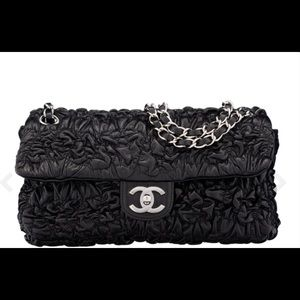Chanel Black Bubble Quilted Leather